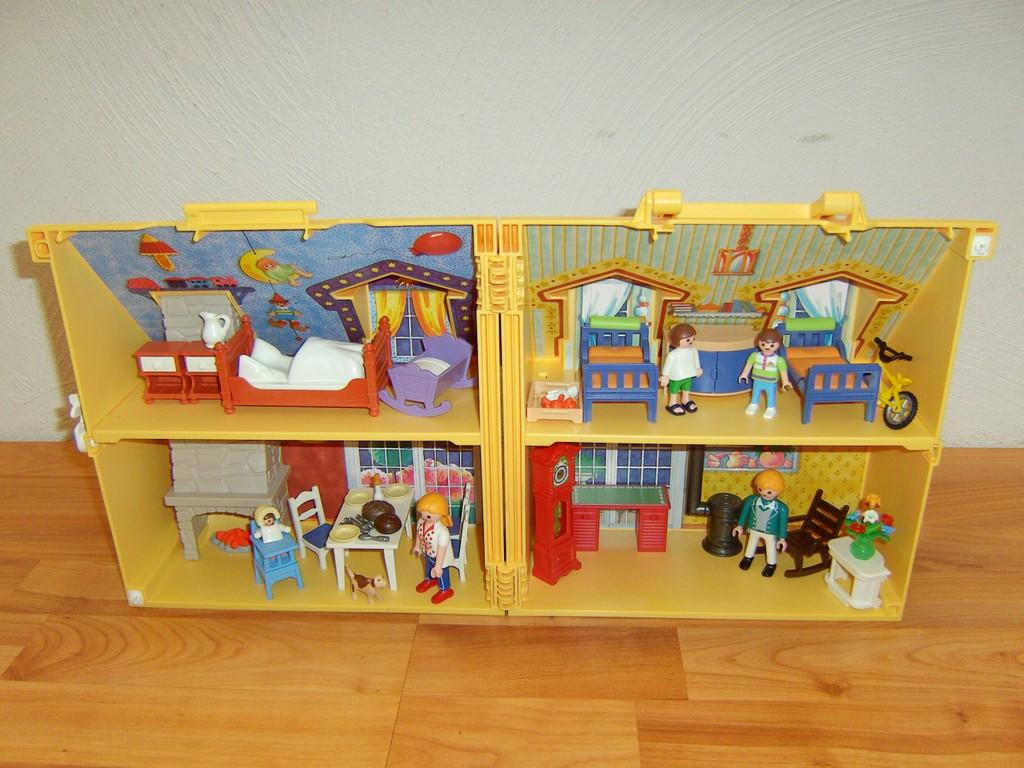 Playmobil 4145 mitnehm puppenhaus mit kinderzimmer for Kinderzimmer playmobil