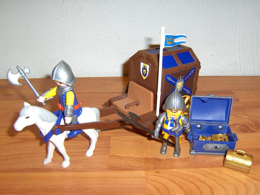 Playmobil 3314 kutsche mit k nigsschatz schatztransport und l wenrittern ebay - Playmobil kutsche ...