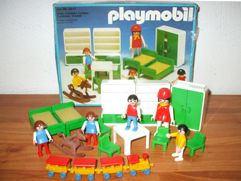Playmobil 3417 kinderzimmer mit mama kindern bett for Kinderzimmer playmobil