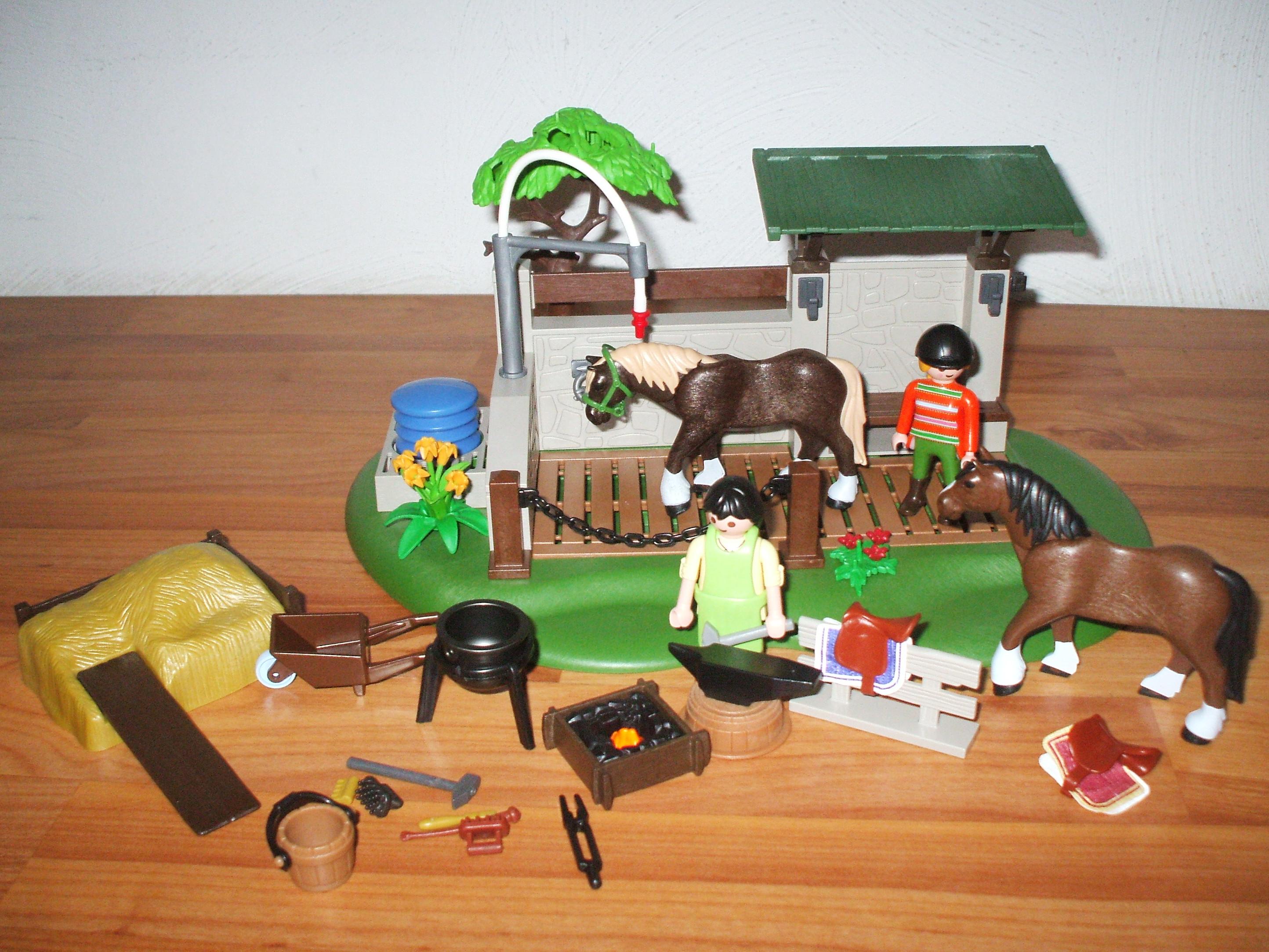 playmobil 5225 pferdepflegestation ebay. Black Bedroom Furniture Sets. Home Design Ideas