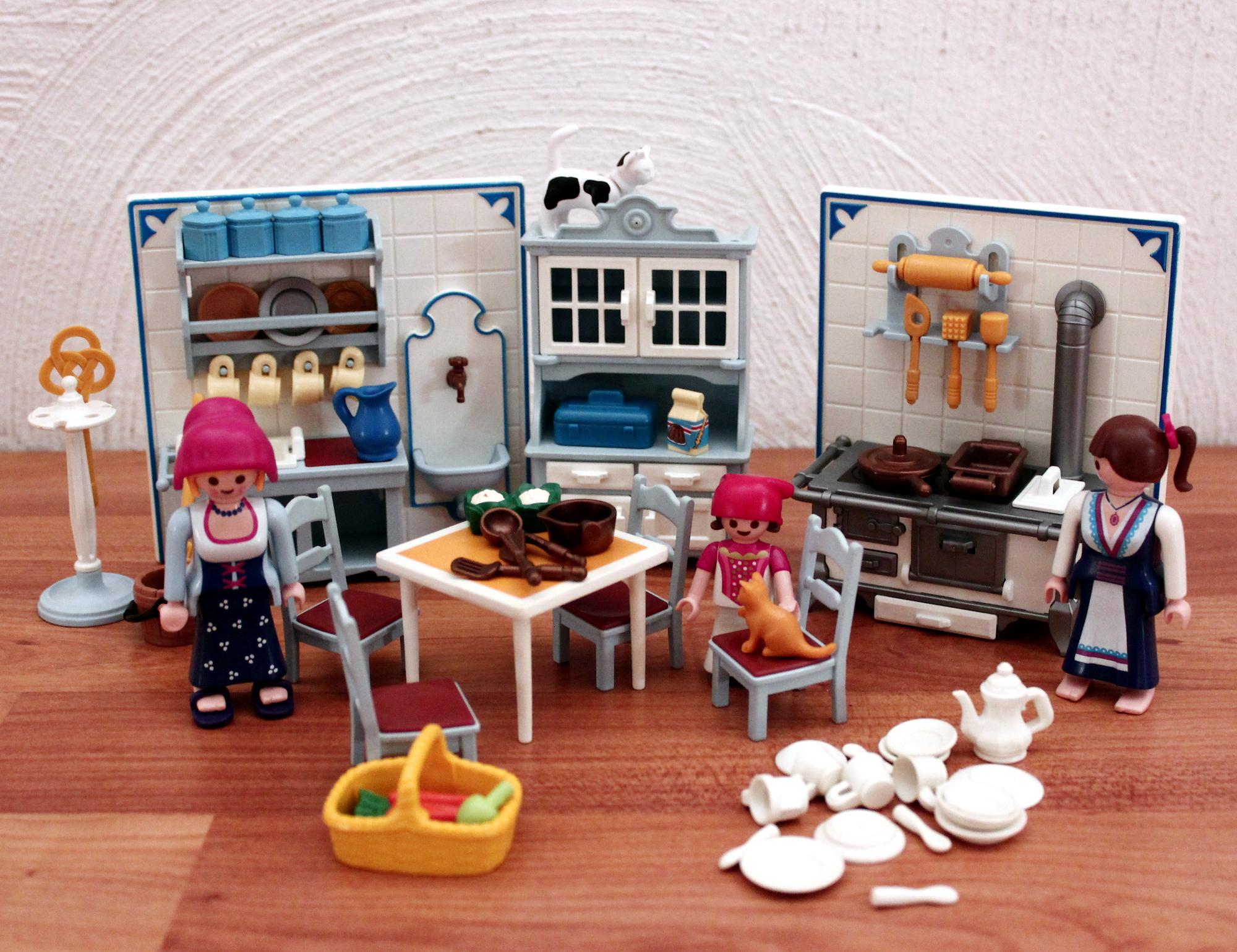 playmobil: 5322 küche aus rosa nostalgie serie - Nostalgie Küche