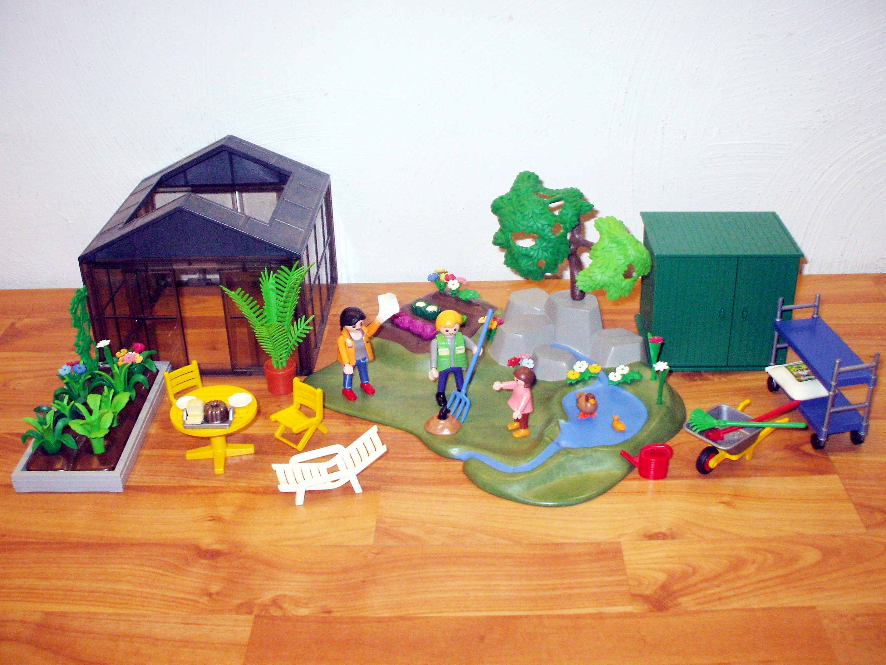 playmobil garten mit gew chshaus beet ger teschuppen ebay. Black Bedroom Furniture Sets. Home Design Ideas