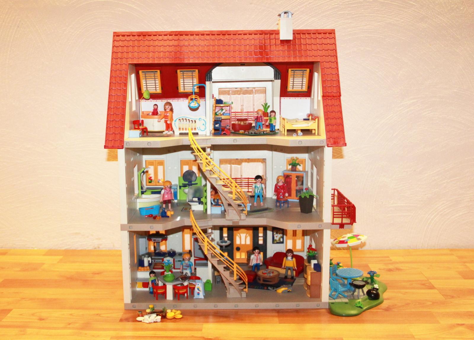 Playmobil 4279 wohnhaus einfamilienhaus zusatzetage viele for Playmobil haus schlafzimmer