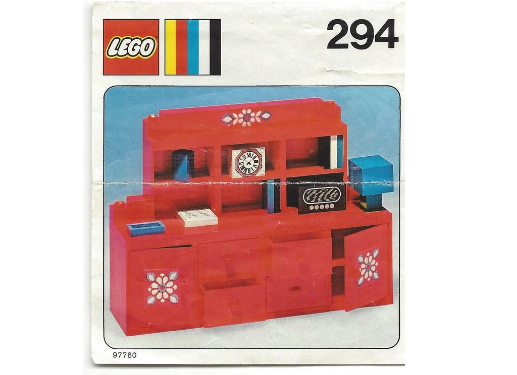 lego bauanleitung instruction von 294 k che wall unit ebay. Black Bedroom Furniture Sets. Home Design Ideas