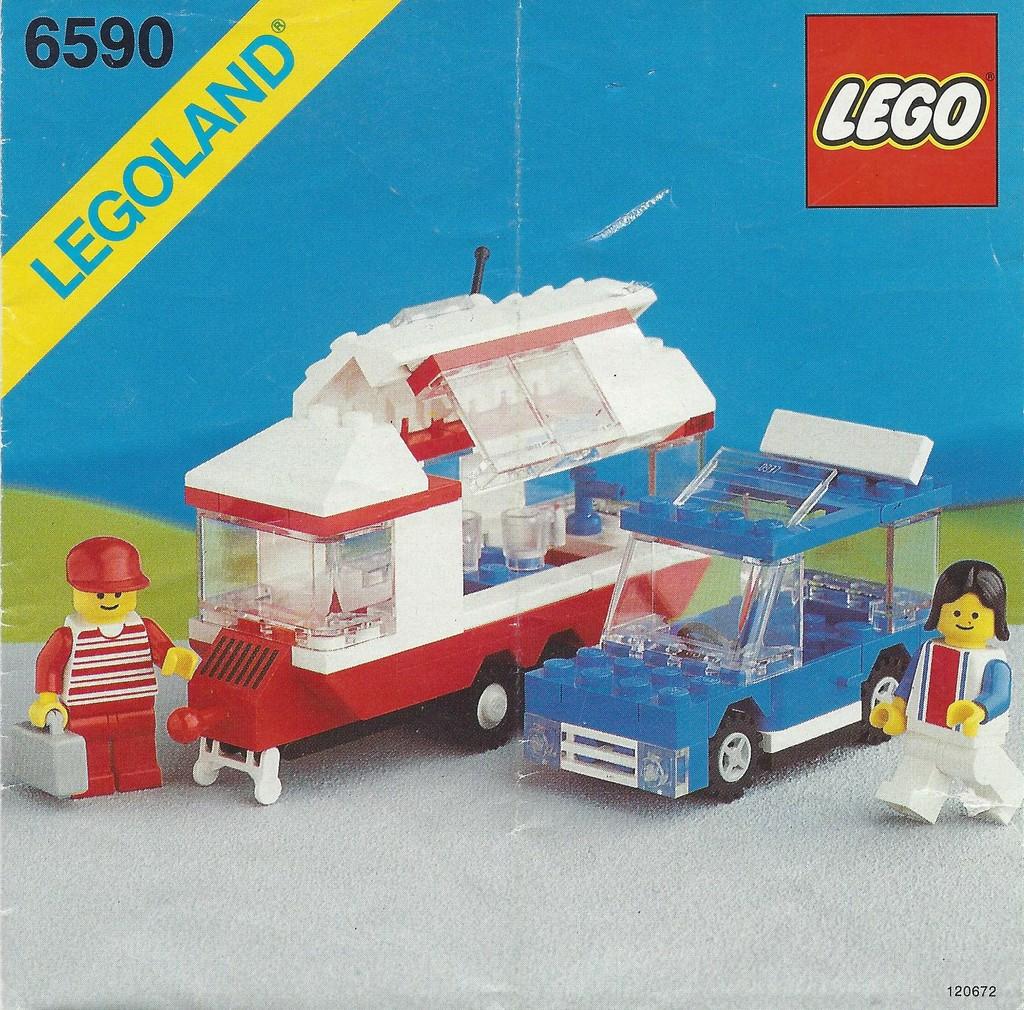 LEGO® Bauanleitung/Instruction von 6590 PKW mit Wohnwagen ...