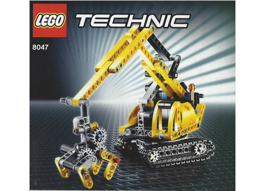 lego bauanleitung instruction von 8047 technic kompaktbagger ebay. Black Bedroom Furniture Sets. Home Design Ideas